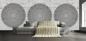 White Brick and Mandala / Zen