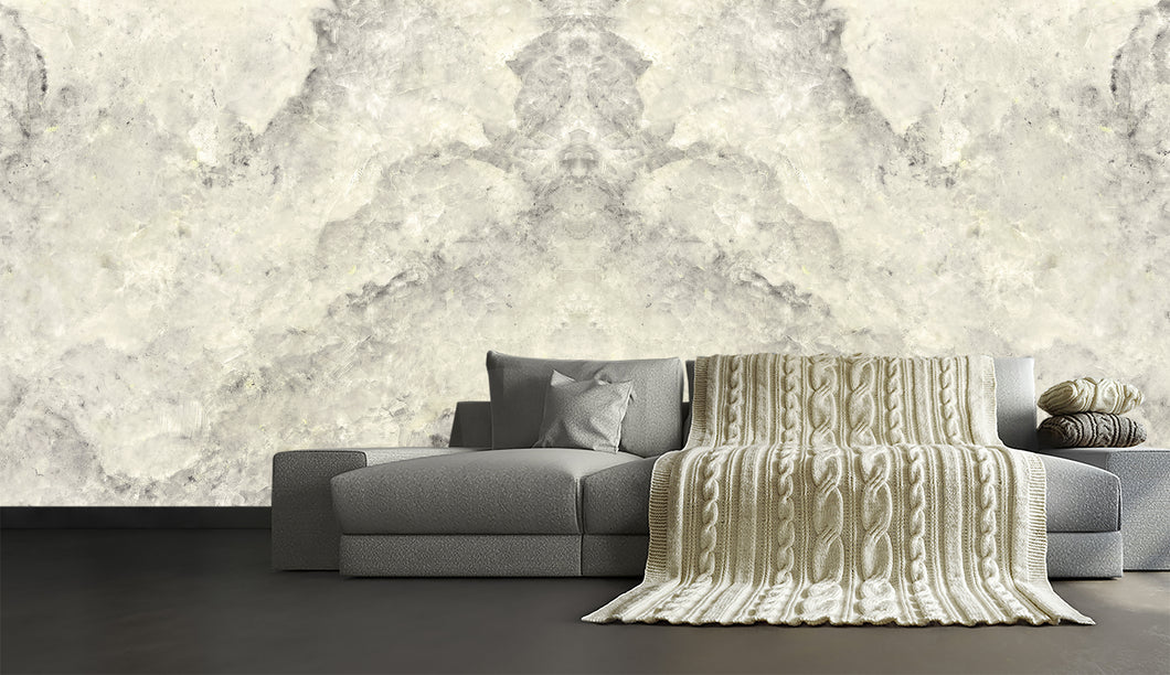 white marble wallpaper, white marble mural, real marble, natural marble wallpaper, soft gray natural marble, marble mural,