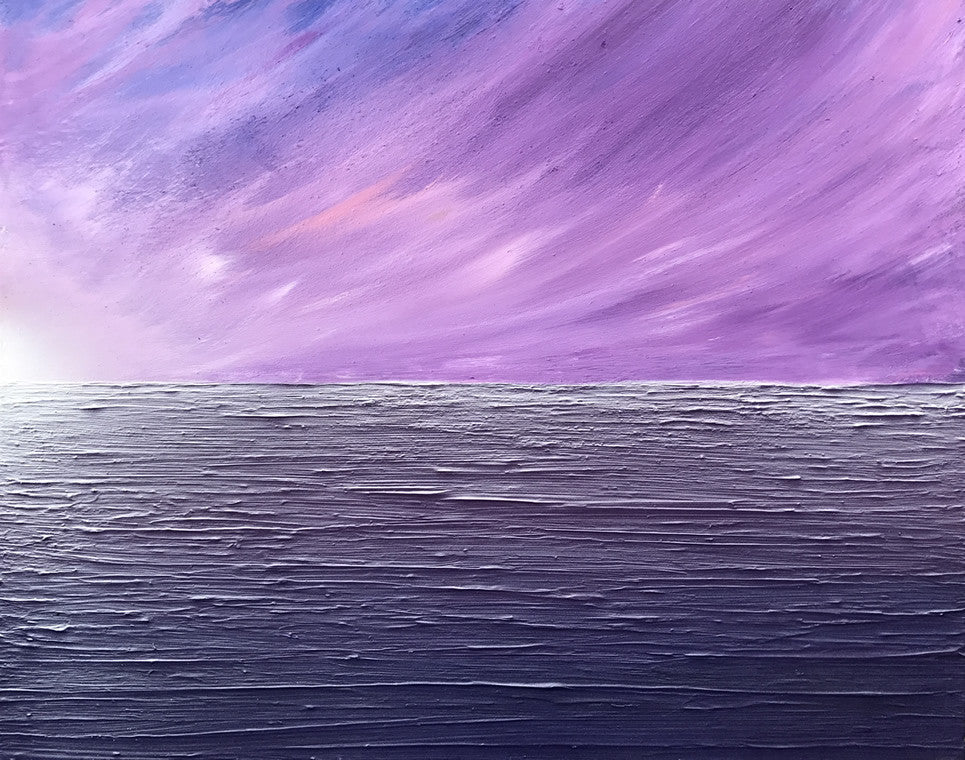 Purple Skies - Modern Art Painting by Carl West