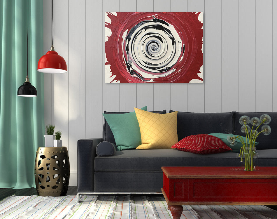 Whirl - Abstract painting by Carl West