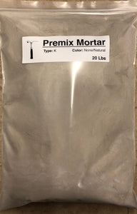 Premixed Mortar: Types M - S - N - O - K