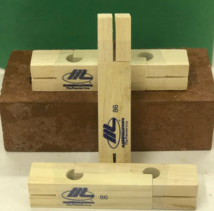 "Marshalltown line blocks: (2) 3-3/4"" blocks/ 1 pair"