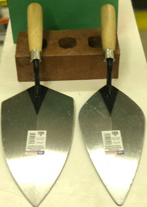 "QLT by Marshalltown: 10"" Philly & London brick trowels"