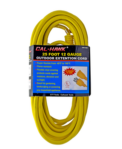 25' Extension Cord, 12Gauge UL