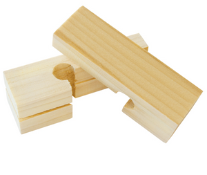 "4"" Wood Line Blocks (Pair)"