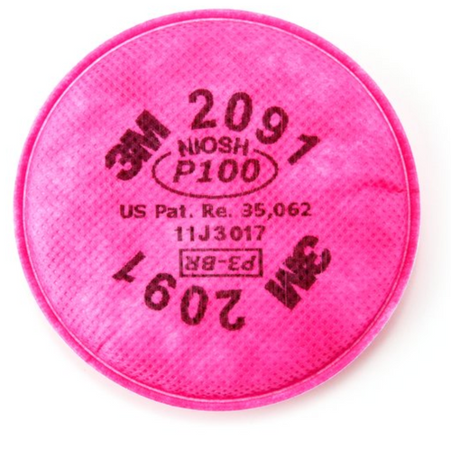 3M P100 Particulate Filter, 2091: 1 pair