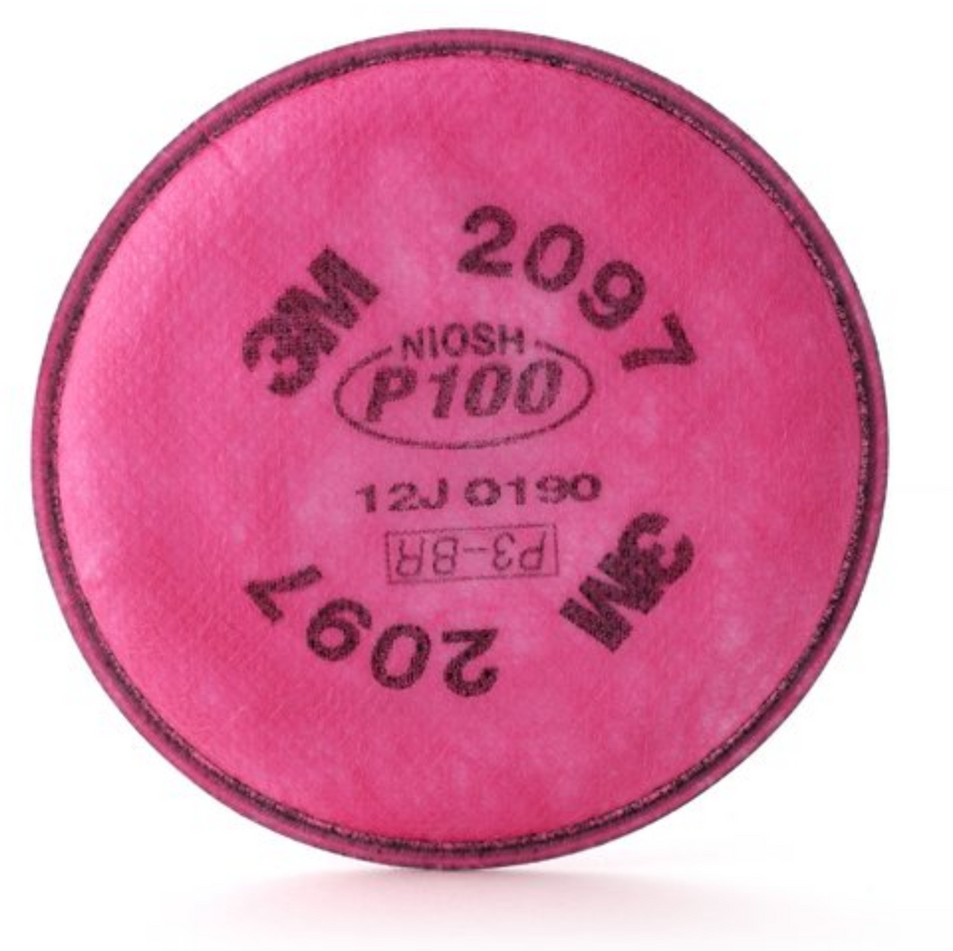 3M P100 Particulate Filter, 2097: 1 pair