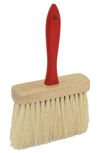 "6-1/2"" x 2"" Jumbo Utility Brush with Tampico Fiber Bristles and Red Wood Handle"