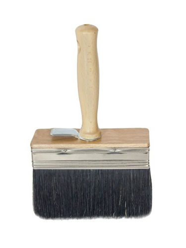 Italian White Wash Brush - Black Bristle 4