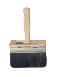 "Italian White Wash Brush - Black Bristle 4""x1"""