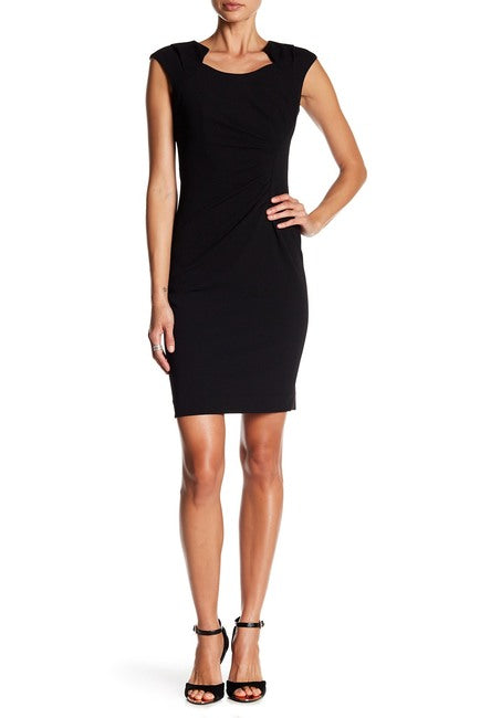 Modern American Designer Horseshoe Neck Sheath Dress $14.99