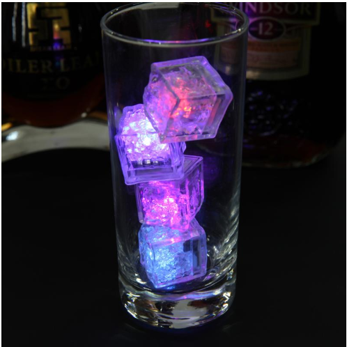 12 Piece Glowing LED Ice Cubes Party Favors Wedding Birthday Retirement or Wet Bar for $6.51 Free Shipping!