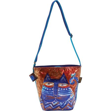 Laurel Burch Azule Foiled Crossbody Handbag $10.80