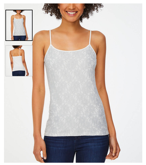 Women's Gray Lace Front Cami Regularly $29.99 Now $4.24