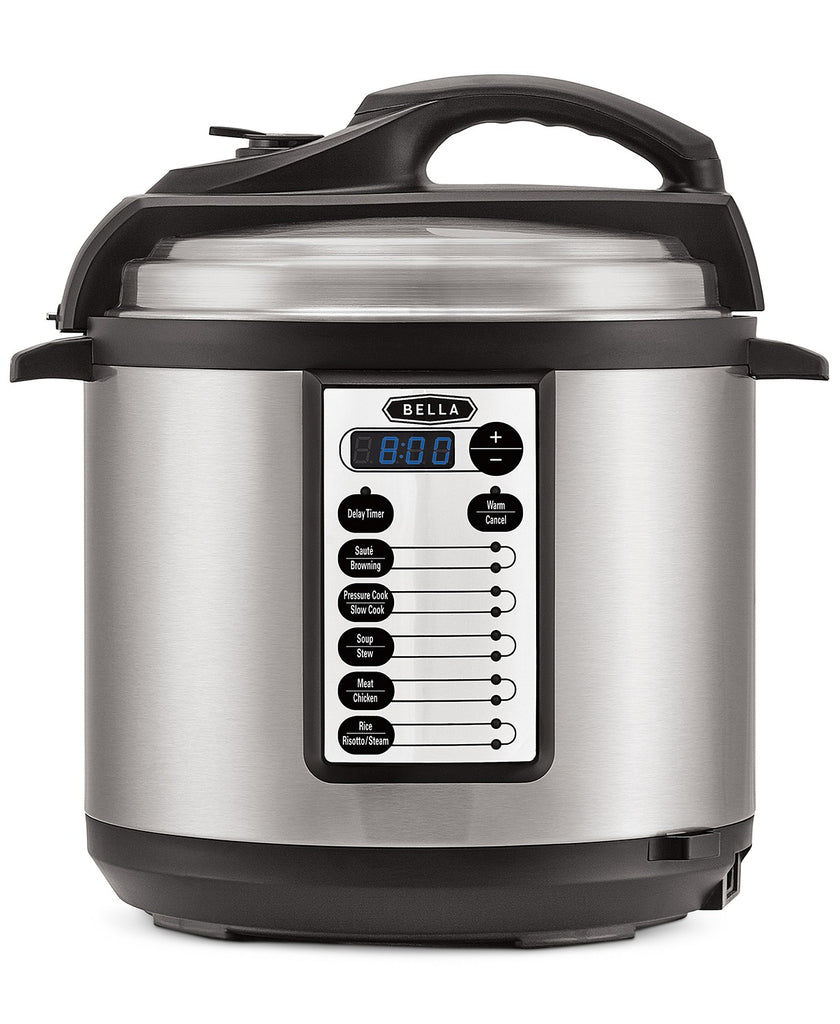 Regularly $119.99 Now $29.97! Bella 6 Quart Electric Pressure Cooker