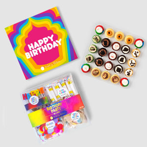 Birthday Party in a Box Bite-Sized Cupcakes Available in Regular, Vegan and Gluten Free!