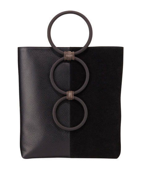 Carolina Santo Domingo Petra Mini Leather/Suede Ring Tote Bag Regularly $895 Now $286.40