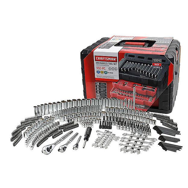 Regularly $459.99 Now $199.99! 450 Piece Mechanic's Tool Set