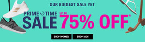 Shoes.com Biggest Sale Yet Up to 75% Off Men's Women's and Kids' Shoes Primetime Sale