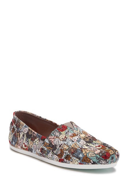 Women's Skechers Bobs Band of Characters Slip On Sneakers Cats and Dogs $19.25
