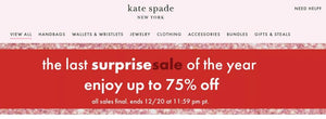 Kate Spade New York Surprise Sale of the Year Up to 75% Off Free Shipping