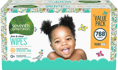 Only $29.97, plus extra 20% coupon on first subscribe and save. Cancel after: Seventh Generation Baby Wipes