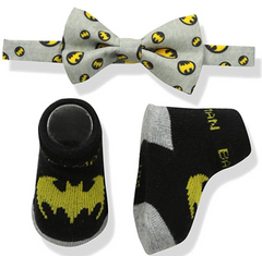 Infant Superhero bowtie and socks set sale