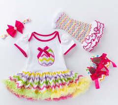 Little Girl's Easter Romper Set