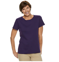 Kohl's Solid Color T-Shirt Clearance $2.33