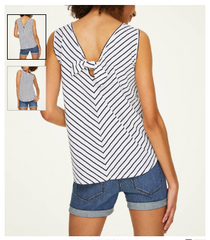 Women's Knot Back Tank Top Clearance Loft Outlet