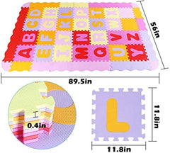 Cushioned baby alphabet playmat on sale for 80% off at Amazon!
