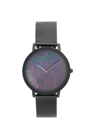 Major Black Ion Plated Tone Mesh Bracelet Watch, 35mm