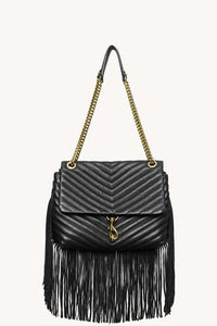 Edie Flap Shoulder Bag With Fringe