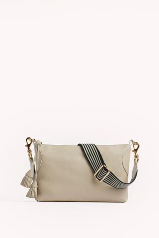 Tassel Crossbody with Webbing Strap