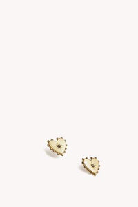 Studded Heart Stud Earring