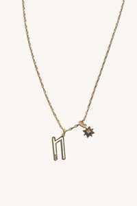 """N"" Cut-out Initial Necklace"