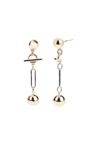Interlocking Ring And Ball Earrings