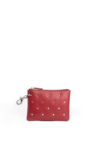 Clip Pouch with Heart Studs