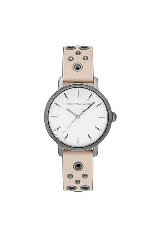 BFFL Grey Tone Blush Grommet Strap Watch, 36MM