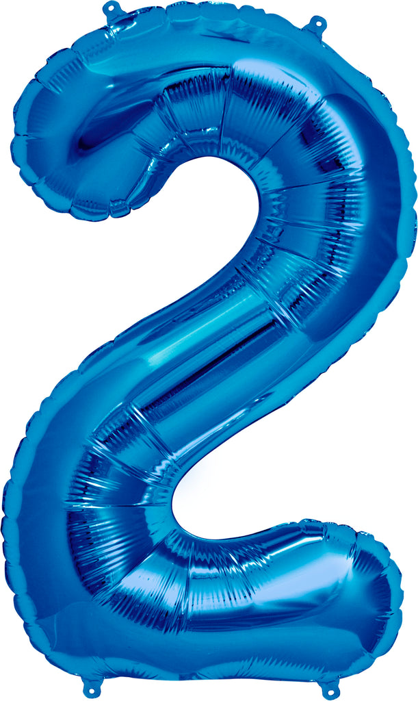 Large Blue Number 2 Balloon By Unique
