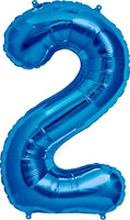 Large Blue Number 2 Balloon
