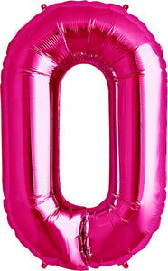 Large Pink Number 0 Balloon by Unique