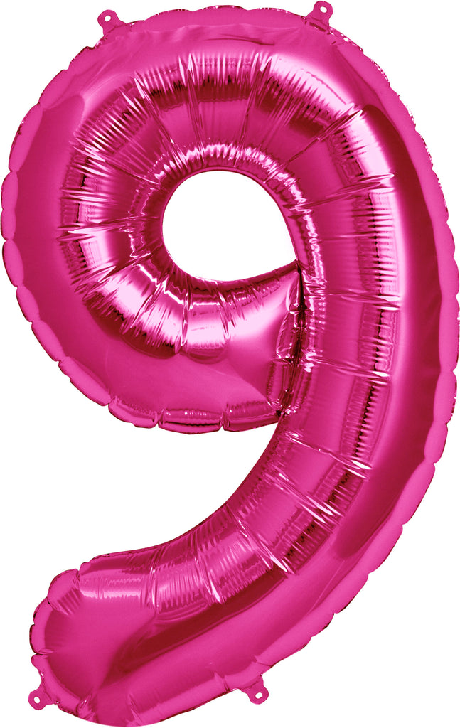 Large Pink Number 9 Balloon by Unique