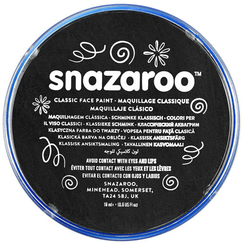 18ml Black Snazaroo Face Paint