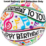 Happy Birthday To You Music Notes Bubble Balloon