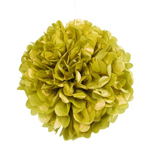 "16"" Gold Tissue Paper Decor Puff Ball"