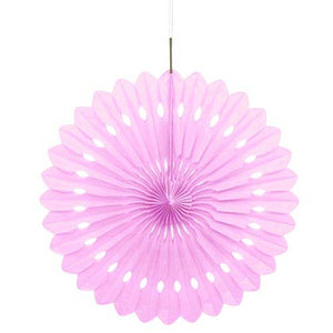 "16"" Lovely Pink Tissue Paper Fan"