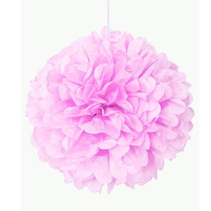 "16"" Lovely Pink Tissue Paper Decor Puff Ball"