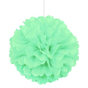 "16"" Mint Green Tissue Paper Decor Puff Ball"