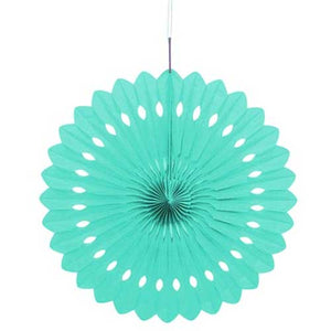 "16"" Powder Blue Tissue Paper Fan"
